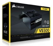 Fonte Corsair 500W VS 80Plus Branca ATX12V/ PFC/ 2.31 S/CABO PN # CP-9020118-LA